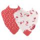 NUBY 牙膠紗布口水巾 (兩件裝)  - 火鳥