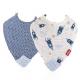 NUBY 牙膠紗布口水巾 (兩件裝) - 火萷 及 船錨